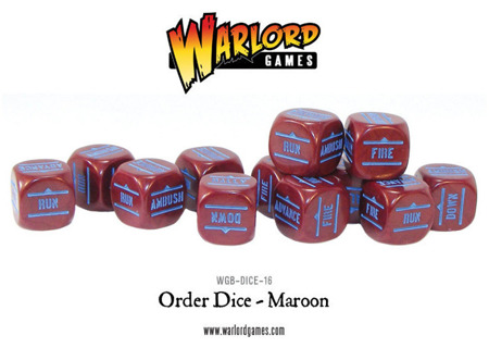 Bolt Action - Order Dice - Maroon (12)
